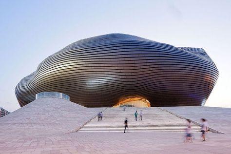 Musée Ordos dans le désert de Gobi en #Mongolie #Architecture