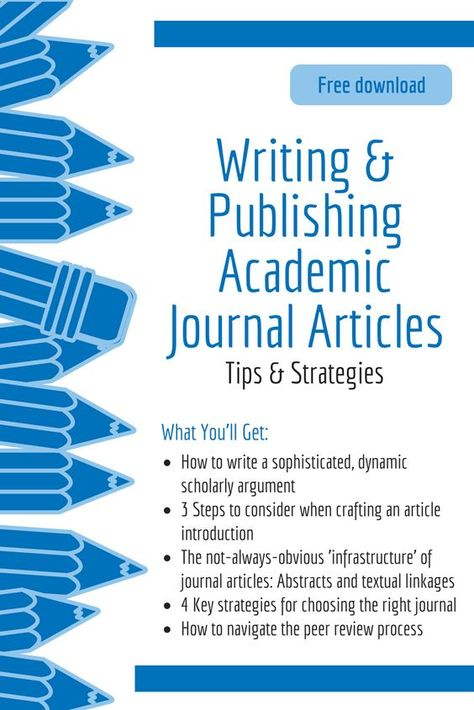 Writing a publishing academic journal articles