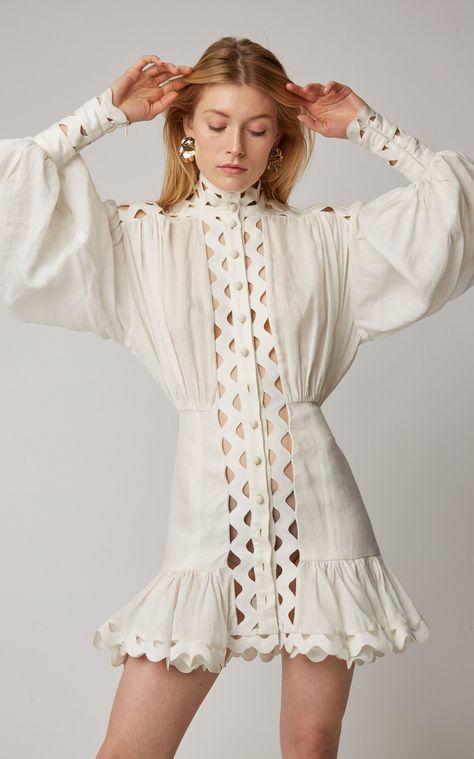 Marina Ruffled Floral Cotton-Voile Maxi Dress