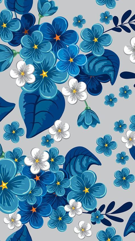 Breathtaking deep blue floral illustration that can also serve as an inspiration for surface pattern. #floral #flowers #blueflowers #seamlesspattern #pattern #patterndesign #fabric #fabricdesign #surfacepattern #illustration #vector #vectorillustration #vectordesign -  - #backgrounds