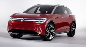 Vw S Electric Id Roomzz Concept Revealed With 280 Miles Of Range Three Rows Of Seats Carscoops Volkswagen Concept Cars Car