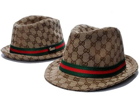 4fee1d90f139e Gucci Fedora with Gucci Trademark Detail