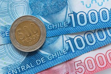Chilean Money Pesos Coin And Banknotes Sponsored Money Chilean Pesos Banknotes Coin Ad In 2020 Bank Notes Holiday Vectors Money