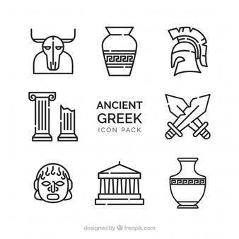 Greek Vectors Photos And Psd Files Free Download Greek Design Ancient Greek Art Greek Icons