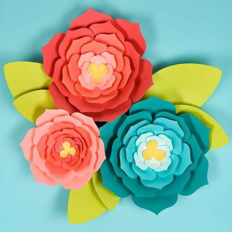 Aprenda Como Fazer Flor Gigante De Papel Simples E Fácil