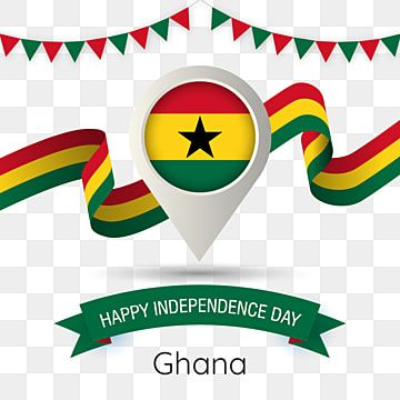 Ghana Independence Day With Stylized Country Flag Pin Illustration Ghana Happy Independence Day Flag Png And Vector With Transparent Background For Free Down Happy Independence Day Independence Day Happy Independence