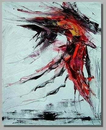 Gallery of Emotions Original Painting Surreal Ambiance Experiment Sentimental Abstract Setting Man Woman Enemies Unrequited Feelings Ink Art