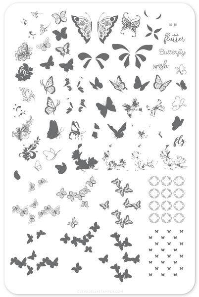 Everything butterfly... are butterflies one of your favourite things too? Now, a plate exclusively with these beautiful creatures!  14.5 x 9.5 cm
