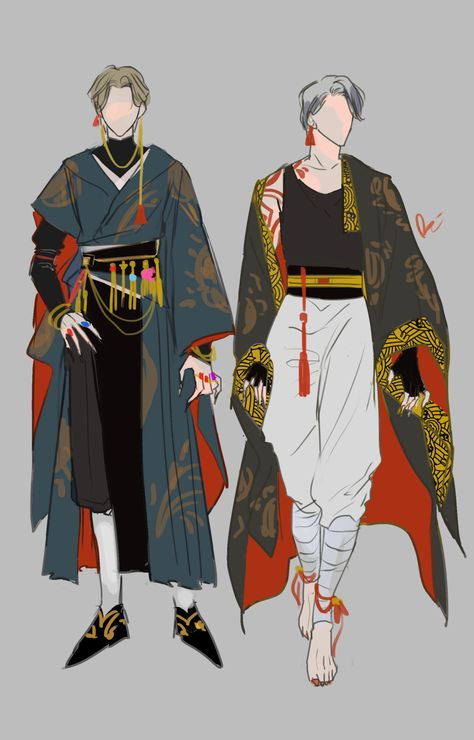 Fantasy Character Design, Character Design Inspiration, Character Concept, Character Art, Anime Guys, Manga Anime, Mode Collage, Arte Fashion, Fashion Design Drawings