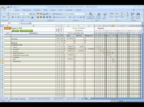 Estimated Construction Cost Spreadsheet construction cost - builders quotation