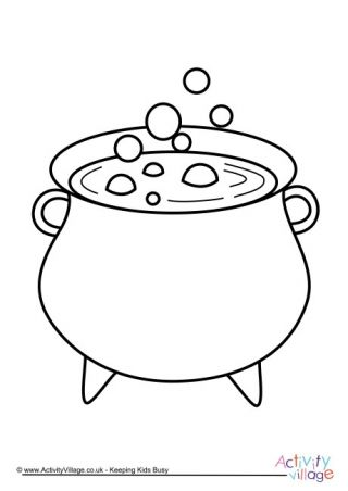 Cauldron Colouring Page Halloween Coloring Pages Halloween Coloring Halloween Arts And Crafts