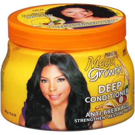Megagrowth Anti Breakage Deep Conditioner For Wavy Curly Coily Relaxed Locs Protective Styles With Olive Coconut Oil 15 Fl Oz Walmart Com Deep Conditioner Hair Growth Oil Deep Hair Conditioner