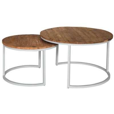 2er Set Design Couchtisch Art Deco Ii Chrom Opal Weiss Beistelltisch Side Table Coffee Table Glass Table