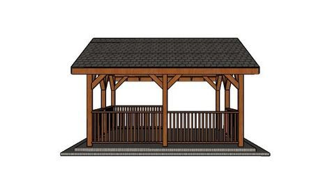 14x16 Pavilion Free Diy Plans Howtospecialist How To Build Step By Step Diy Plans Gazebo Raised Bed Garden Design Wooden Gazebo