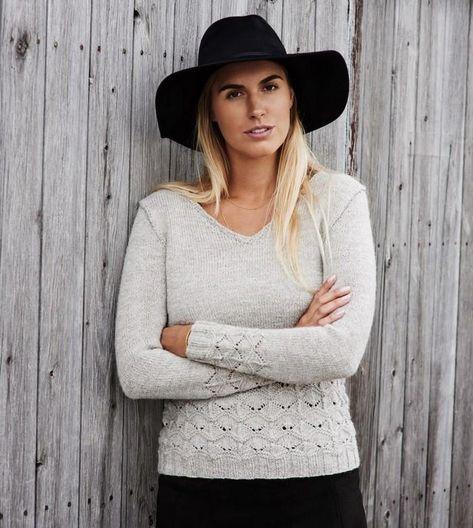 Becca sweater, No 2 kit – Önling | Sweatermønstre, Sweater