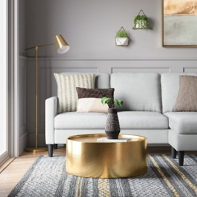 Bellingham Sofa With Chaise Light Gray Project 62 Blue Sofas Living Room Blue Couch Living Room Blue Sofa Living