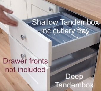How To Fit Drawer Front On Blum Tandembox Deep Drawer Boxes Replacement Kitchen Drawers Larder Unit Drawer Box