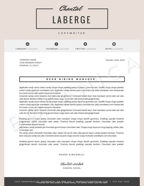 Creative 2 Page Resume Design Feminine Resume Template Cv Etsy Photoshop Cover Letter Template Microsoft Word