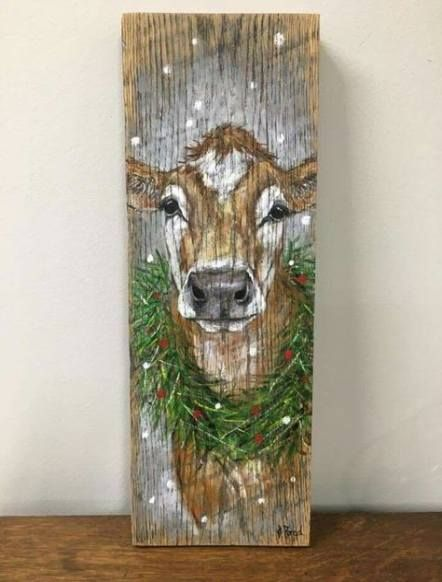44 Super Ideas For Painting Wood Art Posts Christmas Paintings
