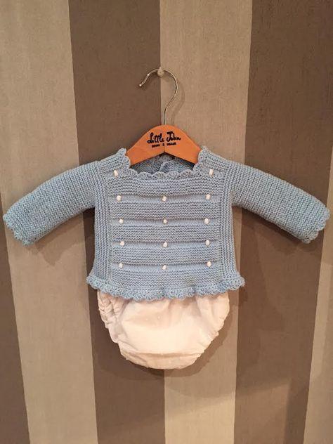 Conjunto Bodoques En Algodón Azul Cielo Con Bodoques Blancos A Juego Con La Capota Y Sombreros Tejidos Para Bebé Chaqueta Bebe Punto Suéteres De Punto De Bebé