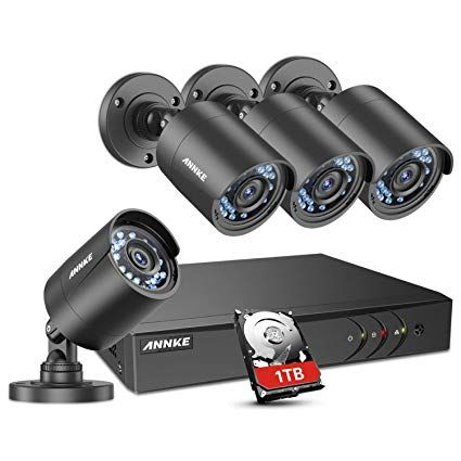 Annke 8 Channel Security Camera System 5 In 1 1080p Lite H 264 Dvr With 1tb Surveillance Hard Disk Driv Surveillance Camera Security Camera System Cctv Camera