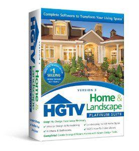 Amazon Com Nova Development Us Hgtv Home Landscape Platinum Suite 3 0 Software Home Design Software Interior Design Software Kitchen Design Software