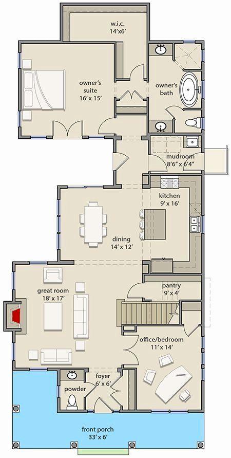4 Bedroom Cottage House Plans Unique Plan Tf Charming 4 Bedroom Cottage Plan For Narrow Lot Narrow Lot House Plans House Plans Cottage Plan