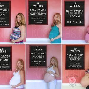 Printable baby bump signs DIY Chalkboard signs week by week maternity signs Editable Pregnancy signs baby countdown sign