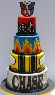 Rescue Bot Cake - Google Search