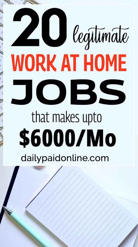 20 Legit Work At Home Jobs for Moms and Women That Makes Extra Money Free Fast