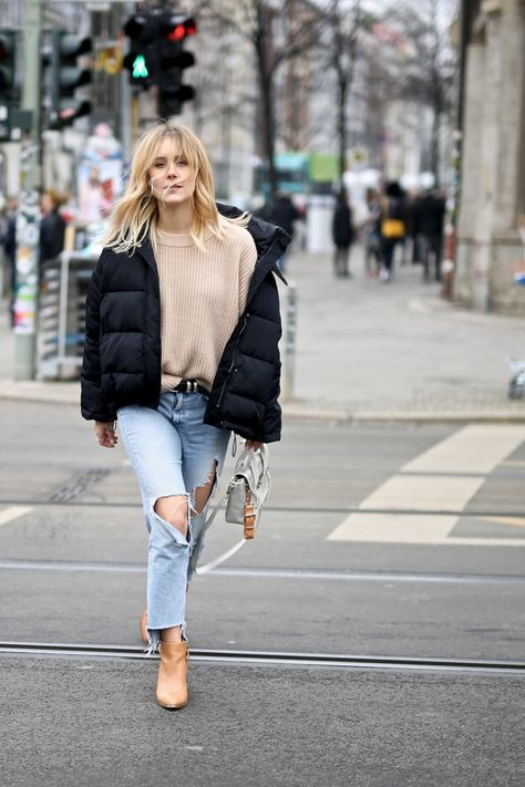 Mbfw Stylingtipps Fur Boyfriendjeans Bomberjacke Fashion Mode Fashion European Fashion