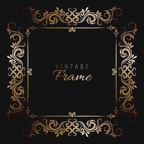 إطار ذهبي مزخرف الإطار عتيق الإطارات Png والمتجهات للتحميل مجانا Frame Gold Frame Frame Border Design