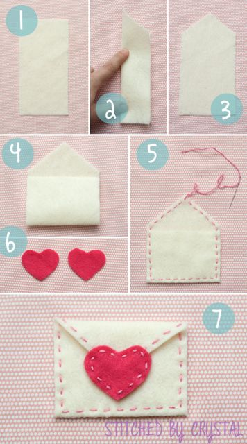 It's Crystal from stitched by Crystal. I am here today sharing a quick tutorial for these cute valentine envelopes! Valentine's Day is coming quick! I love giving and receiving handmade val Valentines Day Decorations, Valentine Day Crafts, Holiday Crafts, Handmade Valentine Gifts, Printable Valentine, Valentines Day Gifts For Her, Homemade Valentines, Valentine Box, Valentine Wreath