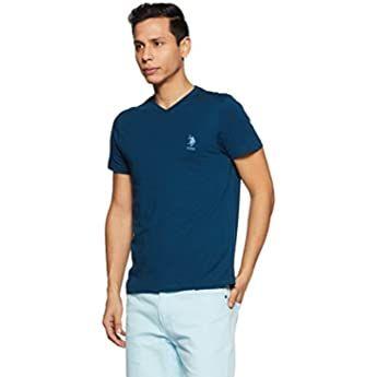 Buy US Polo Association Men's Solid Regular Fit T-Shirt ...