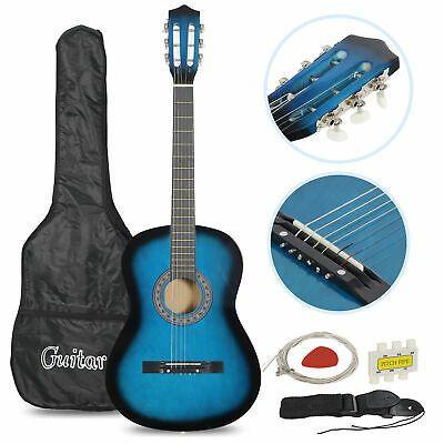 Tuner Pick Steel Strings Blue Beginners Acoustic Guitar Guitar For Beginners Guitar Case Acoustic Guitar