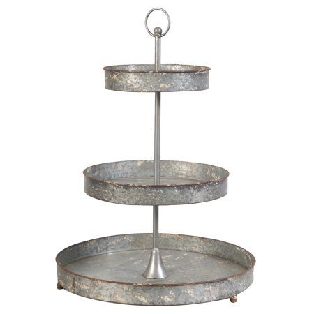 Home Tiered Stand Tiered Server Metal Trays
