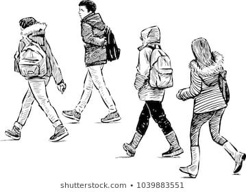 Imagenes Similares Fotos Y Vectores De Stock Sobre Walking People