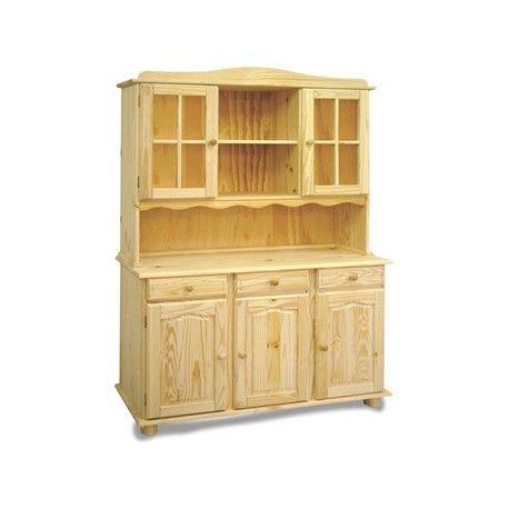 Muebles Alacena Elaborado En Madera De Pino Macizo Con 5 Puertas Color Natural En Medidas 42 X 130 X 197 Muebles De Cocina Color Muebles Muebles En Crudo