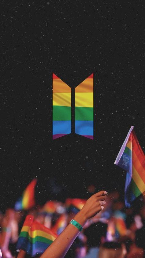 BTS Pride Flag Wallpaper   Credits to twitter bang #bts #classpintag #Credits #explore #Flag #hrefexploreBTS #PinterestBTSa #pride #titleBTS #Twitterbangtanwpapers #wallpaper