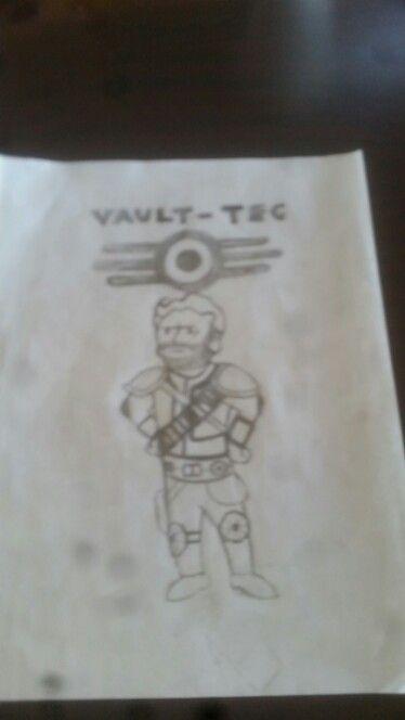 vault boy sketch