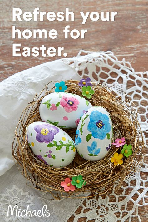Michaels has everything you need to update your space for Easter, from seasonal décor to crafty DIY supplies.