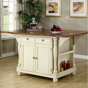Wildon Home Kitchen Island--could just add new top in small dresser and expand on each side for chairs.