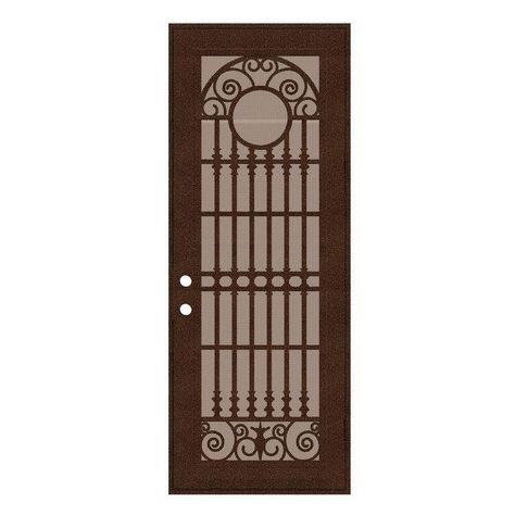 Unique Home Designs 36 In X 96 In Spaniard Copperclad Right Hand Surface Mount Aluminum Security Door With Images Unique House Design Security Door Security Screen Door