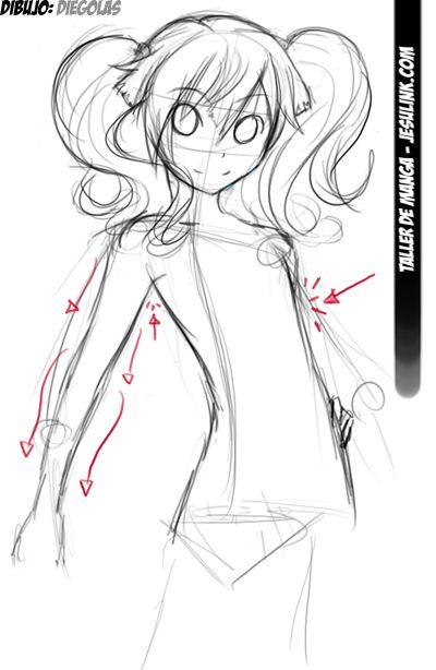 Taller De Manga Como Dibujar Una Chica Manga Chica Manga Como Dibujar Cuerpo Anime Como Dibujar