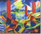 Ölgemälde 'Die roten Türme' nach Paul Adolf Seehaus in 60x50cm #Antiquität