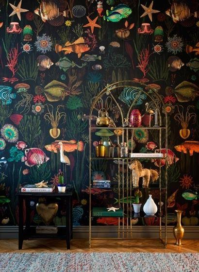 Fisch Tapete Oceania Von Mindthegap 4111 Tapeten Papierwande Badezimmer Tapete