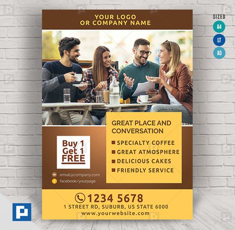 Coffee Shop Promotional Flyer - PSDPixel