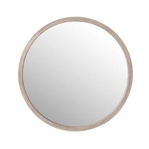 miroir rond en bois blanchi diametre