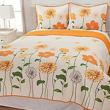 North Shore Linens™ Sunshine Floral Cotton Three Piece Quilt Set | Stuff To  Buy | Pinterest | Cotton Quilts, North Shore And Quilt Sets