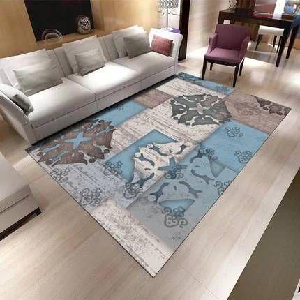 Modern minimalist abstract carpet living room coffee table ...